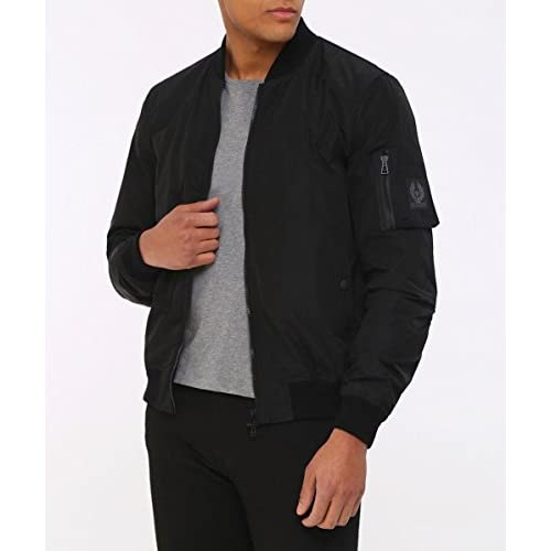 0de737ee6 Belstaff Men's Water Repellent Mallison Bomber Jacket Black ...