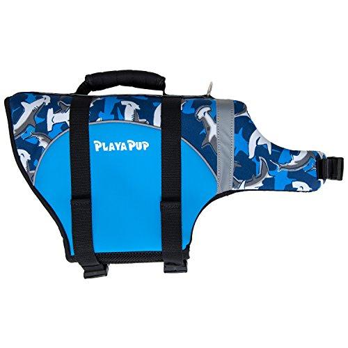 PlayaPup Dog Life Jacket, XX-Small, Surf Blue