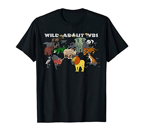 Wild About VBS Animal World Distressed T-Shirt ()