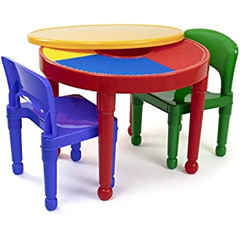 Awesome Amazon Com Costzon Kids Table And 2 Chairs Set 3 In 1 Machost Co Dining Chair Design Ideas Machostcouk