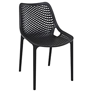 Compamia Air Outdoor Dining Chair Set of 2 - Black