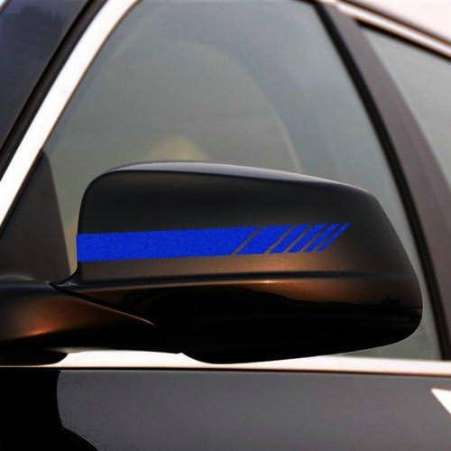 Alamor 2pcs Voiture Arri/ère Vue Miroir Autocollant Vinyl Stripe Autocollant Embl/ème Kk Pour Mercedes Benz-Rouge