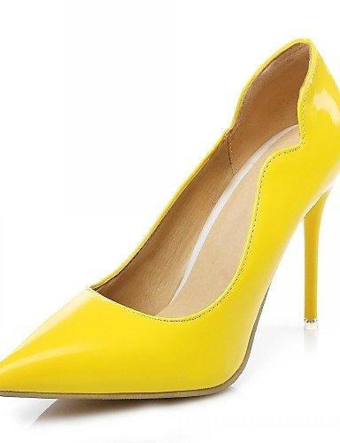 GGX/Microfaser Damen-Schuhe Leder Lackleder/Frühling/Sommer/Office & Karriere/Party & Abend/Kleid/Casual yellow-us11.5 / eu43 / uk9.5 / cn45