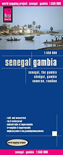 Senegal / The Gambia 2016, Travel Map - 1:550,000 (English, Spanish, French, German and Russian Edition)