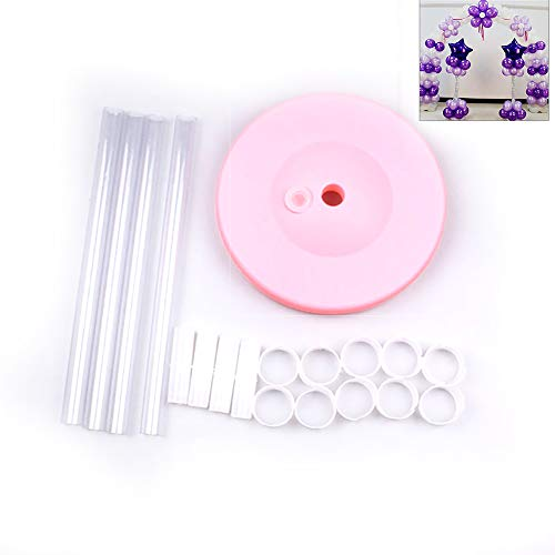 Domccy 1.2m PVC Balloons Column Base Stand Balloons Poles Set Display Rack Holder Birthday Wedding Party Events DIY Decoration(Pink Base) Kitchen and Household Items, Decorations, Tool Accessories ()