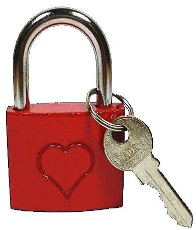 Liebesschloss Schloss Vorhängeschloss Bügelschloss Rot 1 Stück, Liebesschloß:Mit Herz