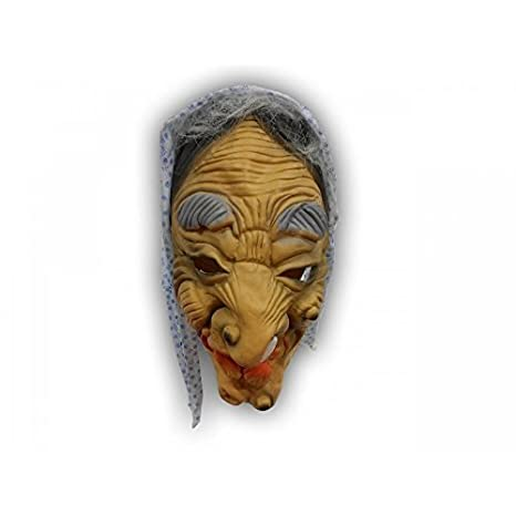 Terrible de bruja máscara con la cabeza, de colour gris de la ceja y cortaalambres babyono: Amazon.es: Juguetes y juegos