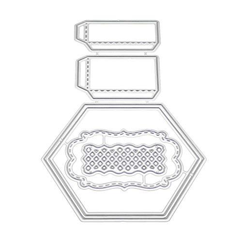 CAOLATOR Troqueles de Corte de Metal Caja de Dulces Caja de Regalo Acero Carbono en Relieve Dies Corte Troqueles de Corte Scrapbooking para Tarjeta Papel /Álbum Scrapbook