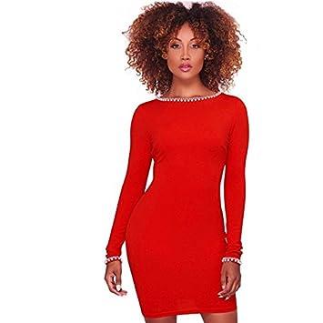 best website f5a16 55dc3 SONGQINGCHENG Damen Mini Gold Details Pearl Verschönert ...