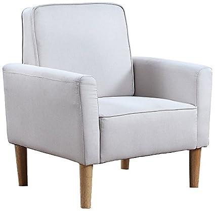 Mid Century Modern Fabric Living Room Armchair (Beige)