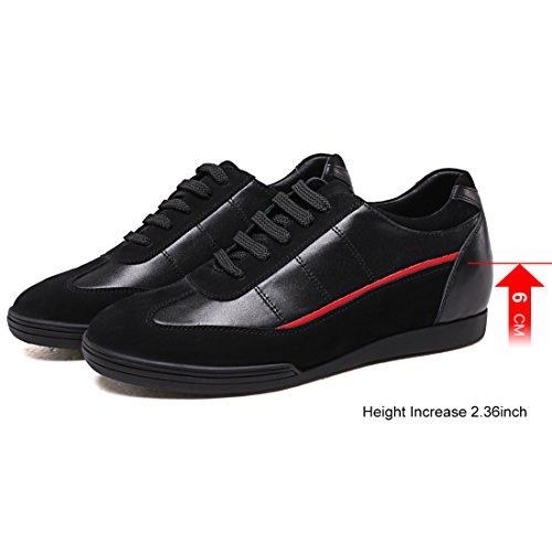 Sneaker Le Sport 36 Plaque Hommes Augmentation Noir H72321y161d Chamaripa 2 Ascenseur Chaussures De En Invisible La Hauteur Pouces Casual Cuir Talon BBrFPAfq
