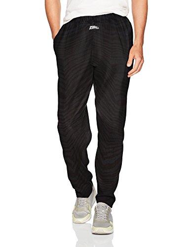 Classic Zebra - Zubaz Men's Classic Zebra Printed Athletic Lounge Pants, Black Tonal, M
