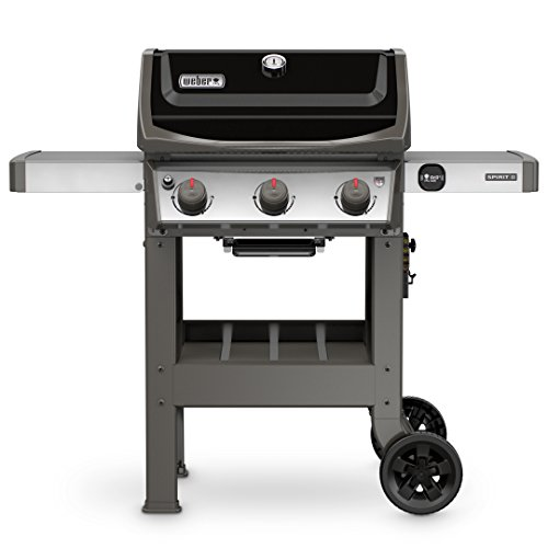 Weber 45010001 Spirit II E-310 3-Burner Liquid Propane Grill, Black - Infrared Main Burner