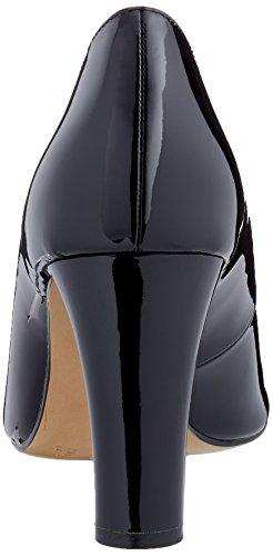 22405 Femme Black Patent Caprice Escarpins Noir HqCdH4wa