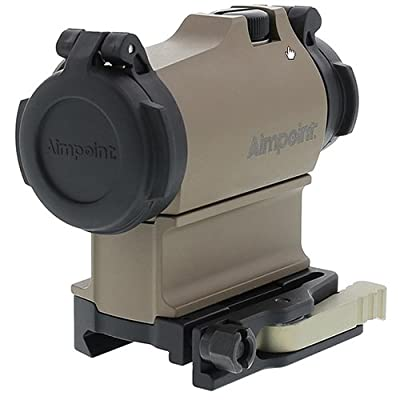 AimPoint 200470 Micro T2 with LRP Mount & 39mm Spacer, 2 MOA Red Dot Sight, Flat Dark Earth