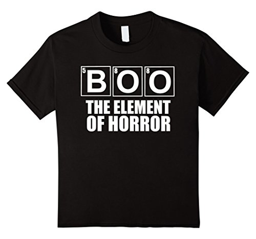Kids Boo The Element Of Horror Funny Halloween Costume T Shirt 4 (Four Element Costumes)