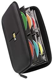 Case Logic CDE-48 48 Capacity Heavy Duty CD Wallet, Black