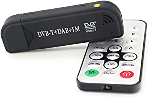 NEW USB DVB-T /& RTL-SDR Realtek RTL2832U /& R820T DVB-T Tuner Receiver MCX Input
