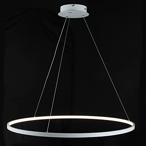 LightInTheBox Acrylic Chandelier Modern 80cm Cut LED Ring Pendant Light with Oval 1 Ring Max 40W Chrome Finish,Ceiling Light Fixture White