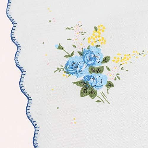 ハンカチ 花柄 コットンハンカチ ホワイトハンカチ ポケット スクエア メンズ レディース 10個セット