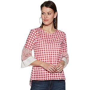 Women's Checkered Regular Fit Top