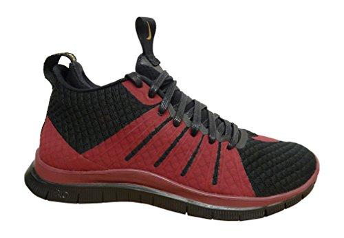 Nike Men's Free Hypervenom 2 Fc Football Boots, Grey Black (Black / Team Red-team Red-metallic Gold)