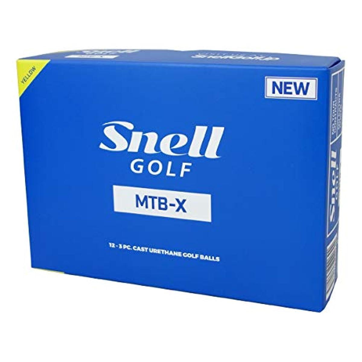 [해외] SNELL GOLF 스넬 골프공 MTB-X 12개입 옐로우