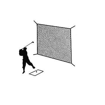 Golf Net Black Practice Driving Impact Screen Netting Roped Edges 10 X 10
