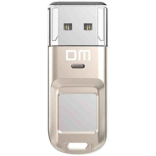 Fingerprint USB Drive High-speed Recognition 64GB Encrypted Flash Drive for Data Security, Silver by LONGFITE