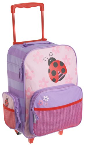 Stephen Joseph Little Girls'  Rolling Ladybug Luggage,Pink, Purple/Red,One Size
