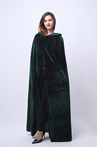 Nuoqi Mens Halloween Costumes Unisex Adults Cosplay Green Cape Cosplay Costumes by Nuoqi (Image #2)