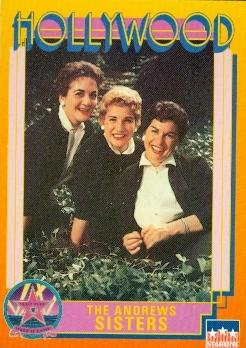 Singer Signed Autograph Card (The Andrews Sisters trading Card (Singers) 1991 Starline Hollywood Walk of Fame #132)