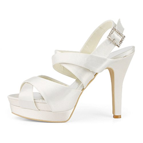 Minitoo , Damen Pumps White-12cm Heel