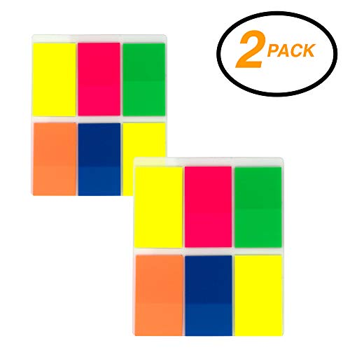 Emraw Colorful Sticky Standard Flags Page Markers Index Tabs, 1