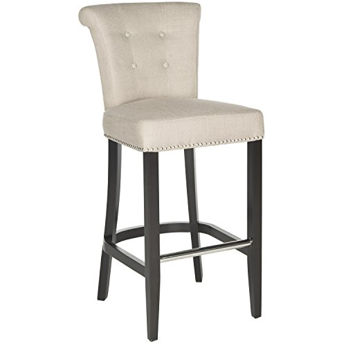 Safavieh Hudson Collection Addo Ring Biscuit Beige and Espresso 29.7-inch Bar Stool (Hudson Collection)