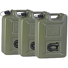 3er Set 20 Liter Kraftstoffkanister