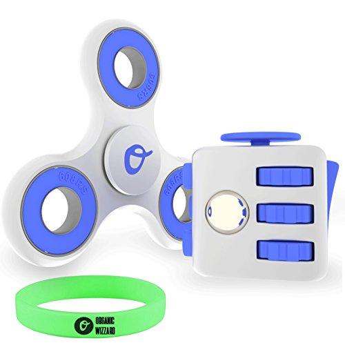 Organic Wizzard Fidget Cube and Spinner Bundle - Tri-Spinner