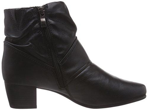 Caprice 25300 - botas de cuero mujer negro - negro