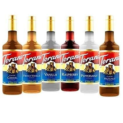 Torani Syrup Variety Pack, 25.4 Fl Oz (Pack of 6)