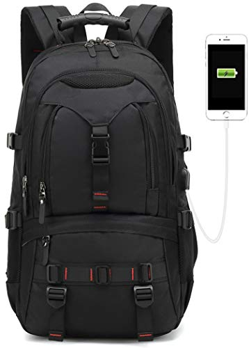 2019 New Model 17-inch Travel laptop backpack,business anti theft with USB Charging Port school Computer backpack for college students,Oxford waterproof bag functional birthday for men Notebook(black) (Best Travel Tech 2019)