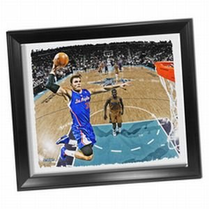 Los Angeles Clippers Blake Griffin Dunk Framed Stretched 22x26 Canvas by Steiner