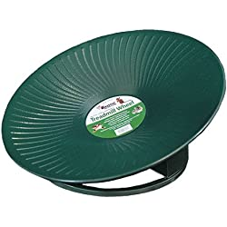 """Treadmill Wheel (11"""" Green) : All-Metal Exercise Wheel for Chinchillas, Prairie Dogs, Rats, Hedgehogs, Sugar Gliders, Squirrels, Degus, Hamsters & Other Small Animals - Smooth, Fast, Silent, Durable"""