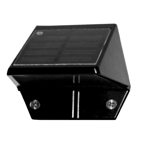 Classy Caps SL178 Solar Deck & Wall Lights – 2 Pack/Black