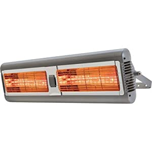 Solaria electric infrared heater commercial for Electric radiant heat efficiency