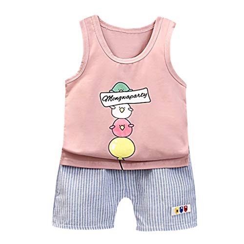 59912aef78f08 Fanteecy Infant Toddler Baby Boy 2Pcs Outfits Set Sleeveless T-Shirt Vest  Tops and Short
