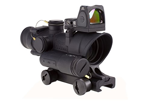 Trijicon ACOG 4 x 32 LED Scope Battery Illuminated Red Crosshair Rifle Scope with TA51 Mount RMR RM06 Combo