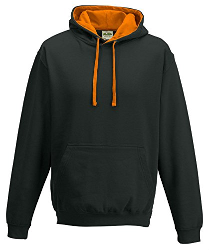 Jet Hoods Just Black Capuche Sweat Orange Crush Varsity À shirt OZgPwxZ