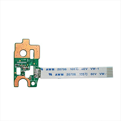 Zahara Power Switch Button Board with Ribbon Cable Replacement for HP Pavilion 14-N DA0U83PB6E0 15-N 732076-001 15-F 776780-001 (Laptop Power Button)
