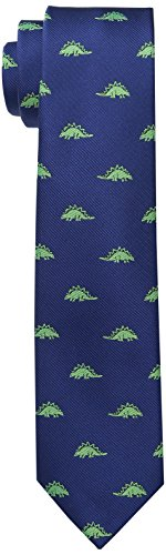 Wembley Big Boys Dinosaur Novelty Tie, Navy/Green, One -