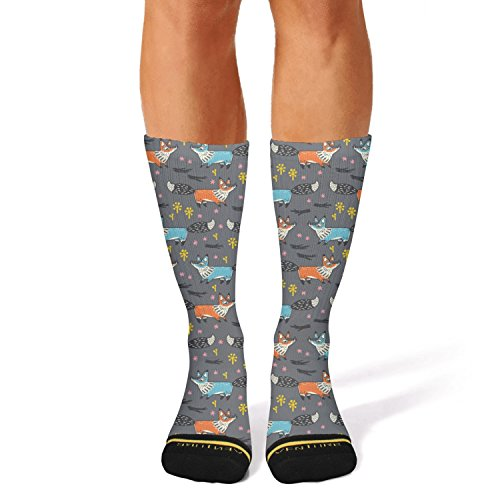 - Ouawjdff Print Red And Blue Foxes Fashion Women's/mens Sporty Tube Socks